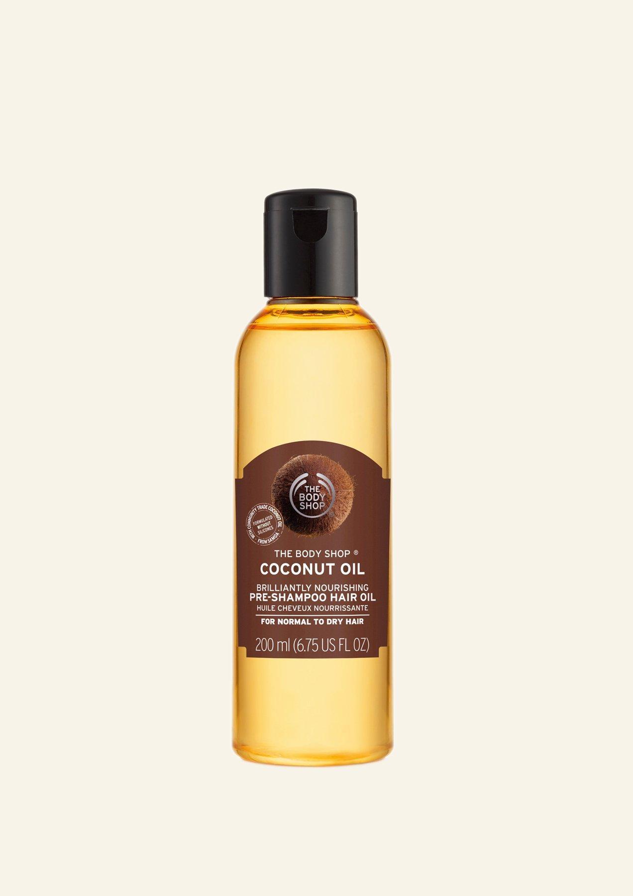 Vaj Shkëlqyes dhe Ushqyes Kokosi për Flokët para Shampos