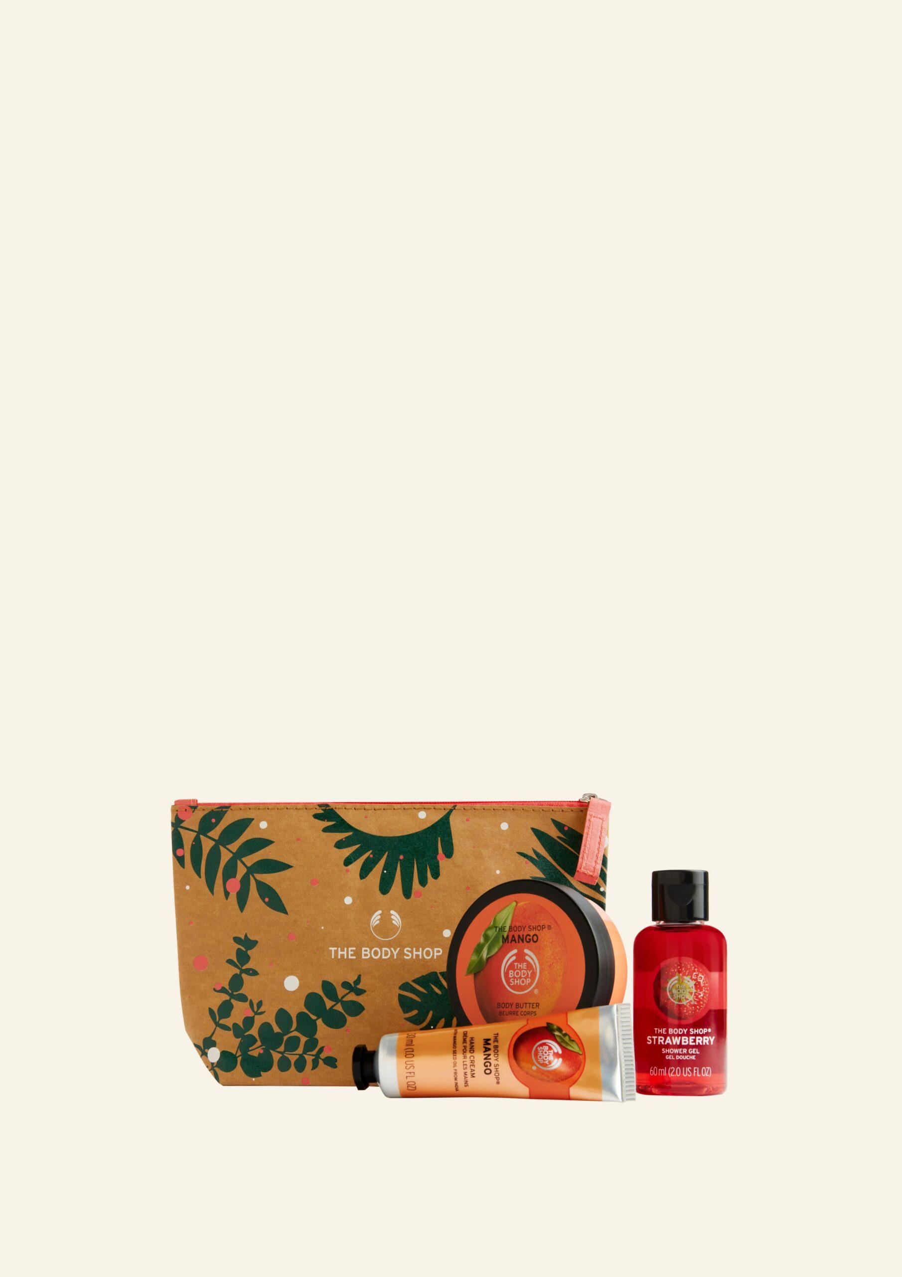 Çantë Dhuratë me Luleshtrydhe & Mango të Ëmbël