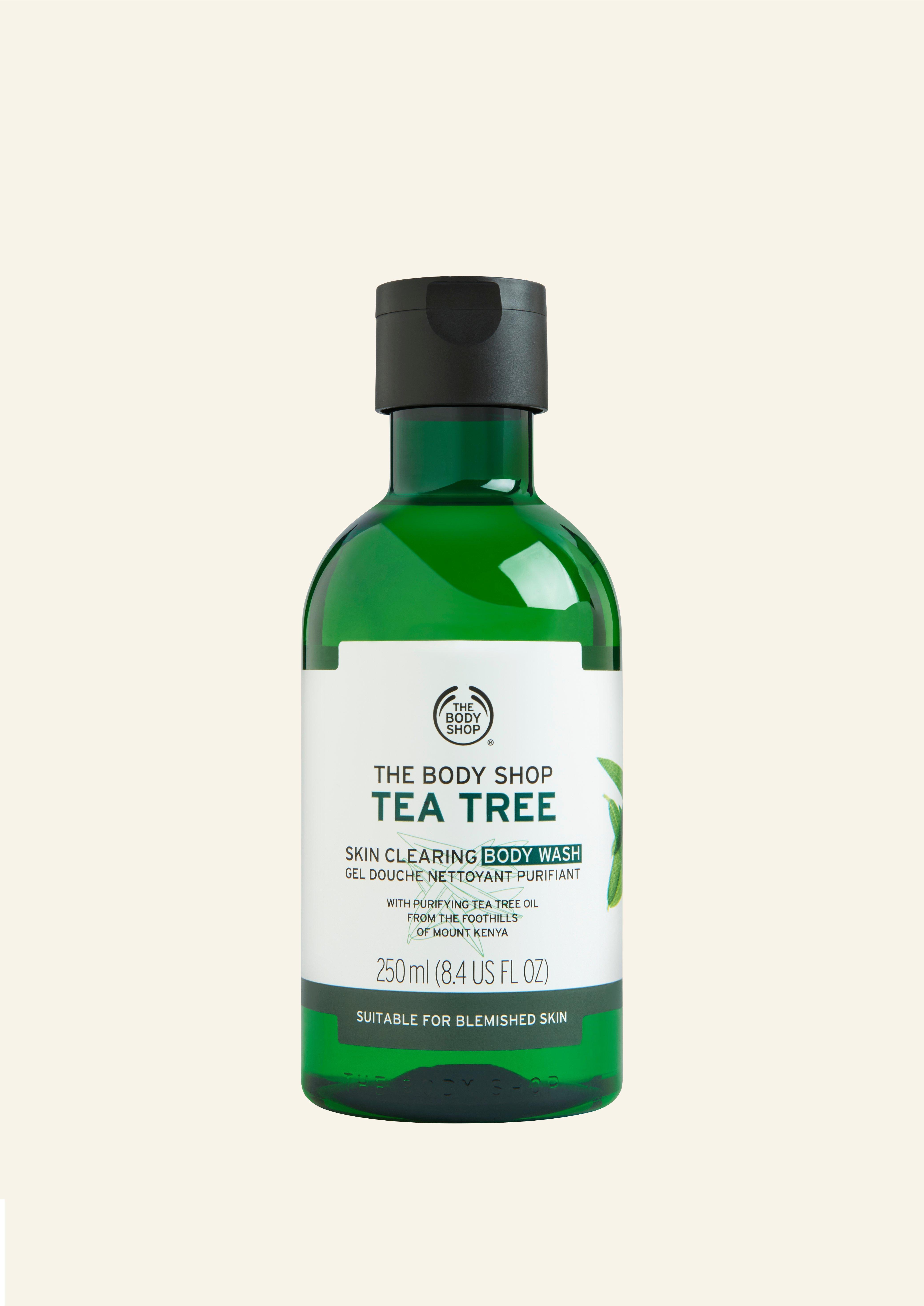 Larës Trupi për Pastrimin e Lëkurës me Tea Tree